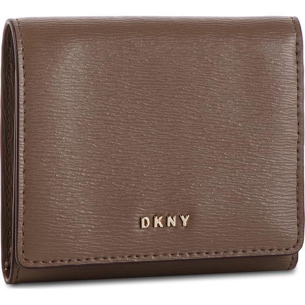 72b2a50192bb0 Mały Portfel Damski DKNY - Bryant Trifld Wallet R7413100 Desert DES ...