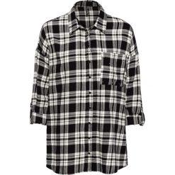 10b38711f875a0 Bluzka flanelowa z ćwiekami bonprix czarno-beżowy w kratę. Bluzki damskie  marki bonprix.