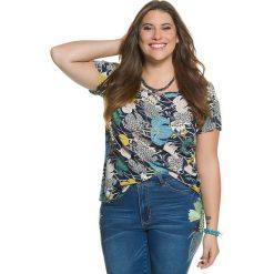 d3a1f0f18 Koszulka z kolorowym wzorem. Szare koszulki damskie marki Ulla Popken, w  kolorowe wzory,