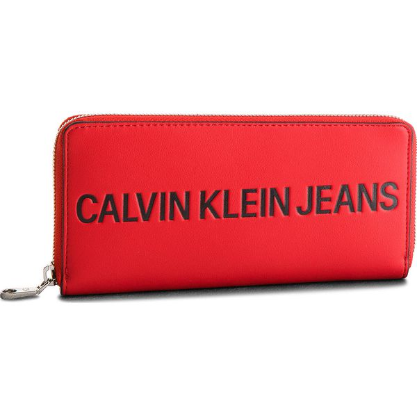 528506b3d7183 Duży Portfel Damski CALVIN KLEIN JEANS - Sculpted Zip Around ...