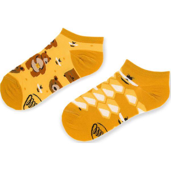 Skarpety Wysokie Unisex HAPPY SOCKS HOT01 2000 Kolorowy Żółty